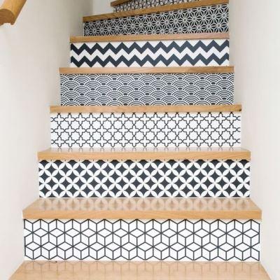 орнамент на ступенях лестницы