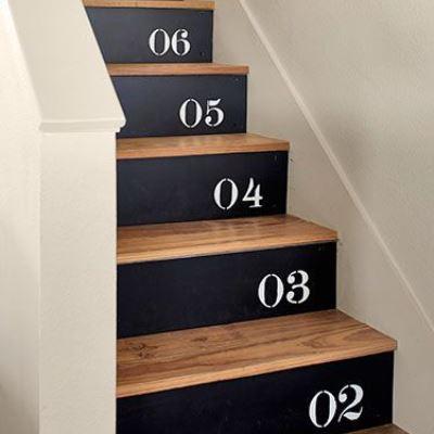 Лестница с цифрами