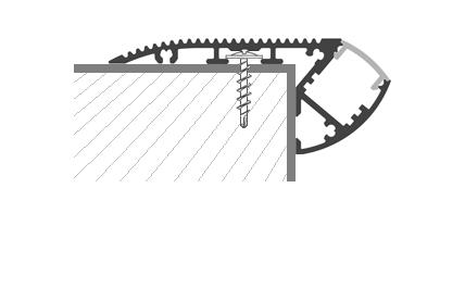 Монтаж светодиодной LED ленты в профиль угловой - внешний полукруглый