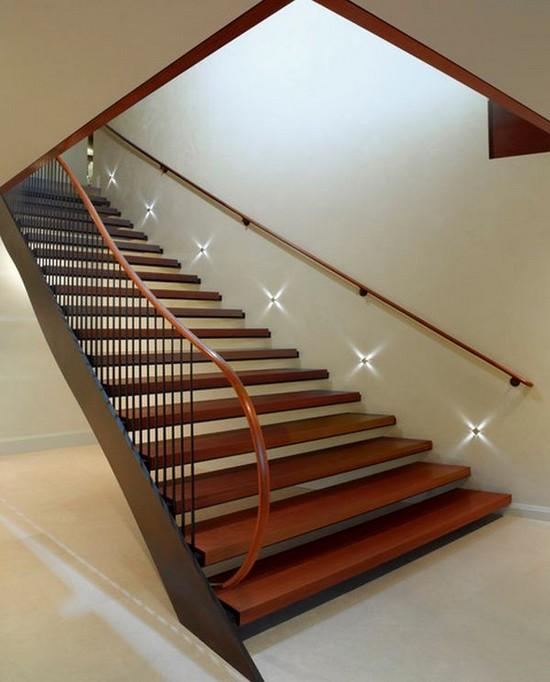 Автоматическая подсветка деревянных лестниц