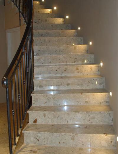 Автоматическая подсветка каменных лестниц